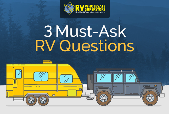 Illustration of SUV pulling a travel trailer RV