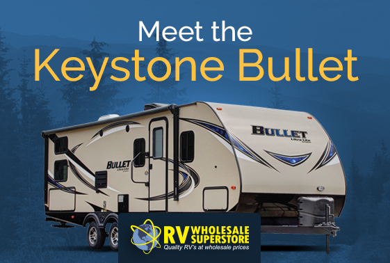 Exterior photo of the Keystone Bullet RV