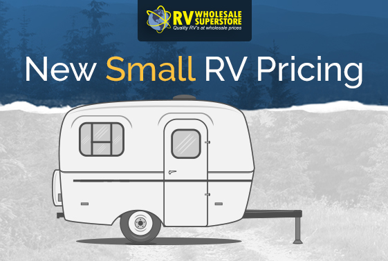 Illustration of small RV travel trailer