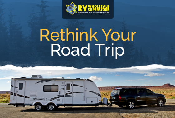 SUV pulling a bunkhouse travel trailer RV