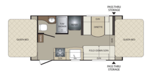 Bullet Crossfire 1650EX Floorplan