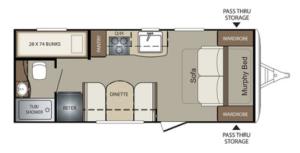 Bullet Crossfire 2070BH Floorplan