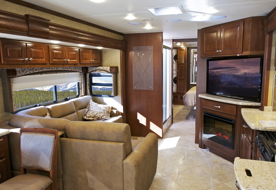 A luxury RV with high-end amenities