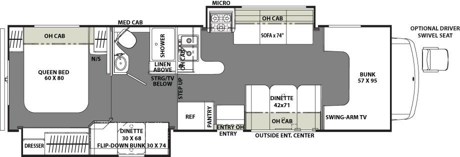 2017 Freelander RV by Coachmen in the 31BH floor plan
