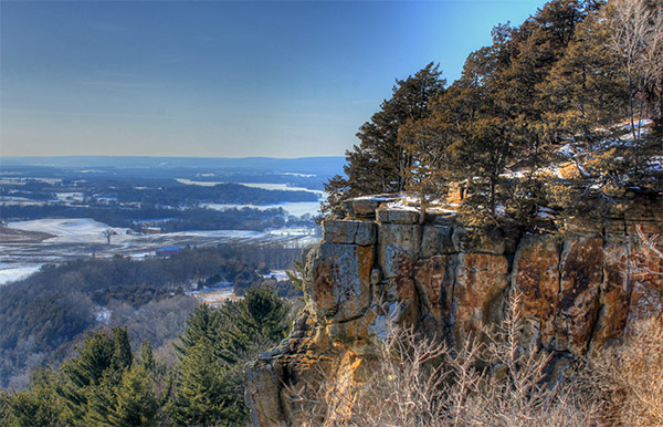The bluff at Gibraltar Rock on the Ice Age Trail, Wisconsin