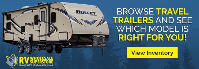 Browse travel trailers and see which model is right for you! Click here to view our inventory.