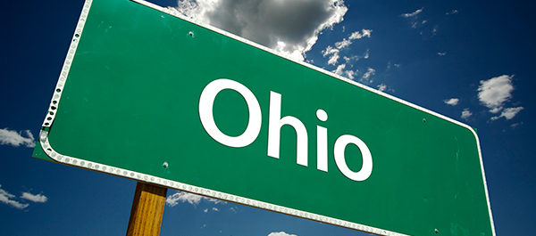 Road sign for state of Ohio.