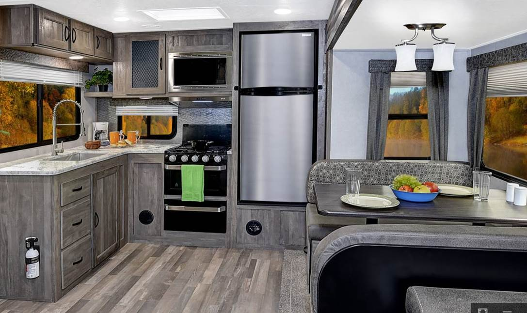Interior of the new 2019 Forest River Vibe RV