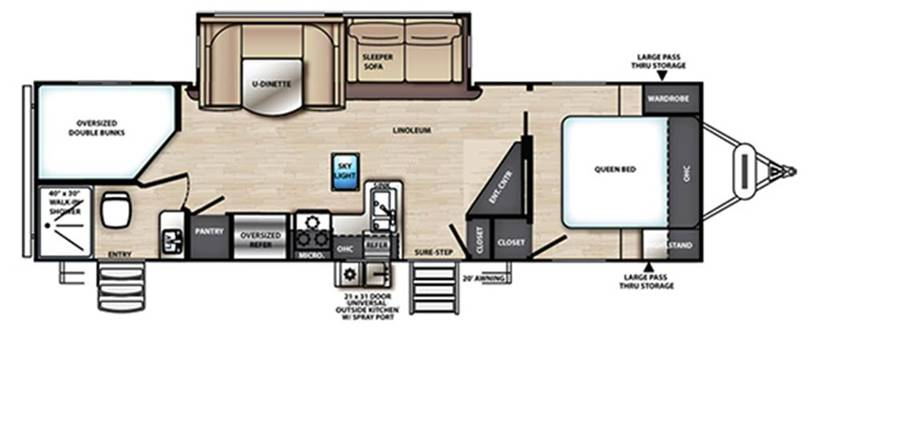 Forest River Vibe 26BH Floorplan