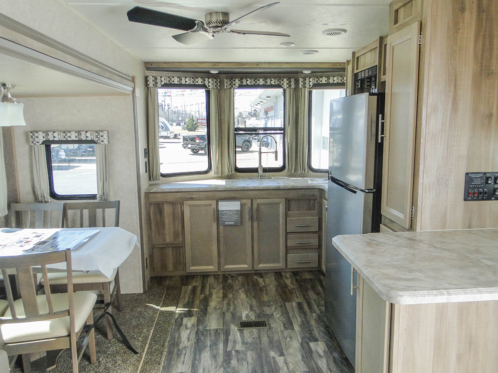 Interior of the Coachmen Catalina 33FKDS Destination Travel Trailer