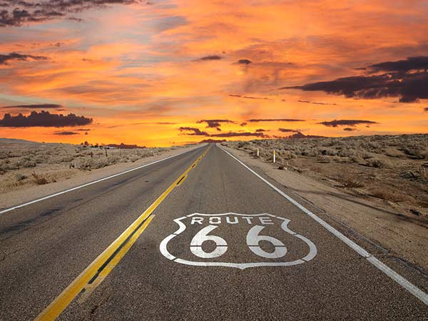 Famous RV travel route Route 66