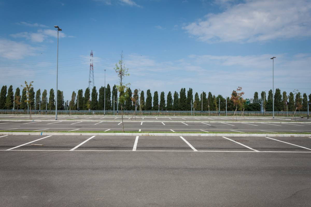 This empty parking lot is a scene that is becoming familiar at RV dealerships across the country due to RV shortages.
